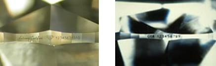 gravures laser du diamant