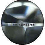 marcatura laser del diamante