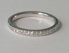 Semi-domed diamond wedding ring – BA01
