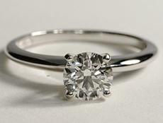 Anello Solitario classico diamante rotondo