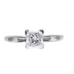 Bague anneau affiné diamant princesse