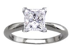 Fine band Princess diamond ring - BS17