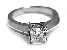 Flat band princess diamond ring - BS16