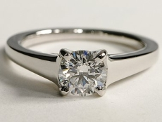 Wide band diamond solitaire ring – BS03
