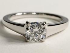 Bague Solitaire diamant anneau large BS03