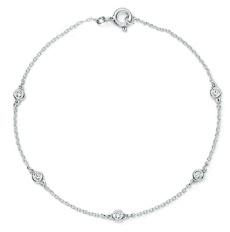 Bracelet chaîne + diamants ronds serti clos
