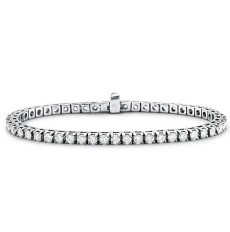 Bracelet rivière diamants ronds