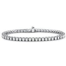 Bracelet rivière diamants ronds