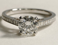 Diamond solitaire with channel setting