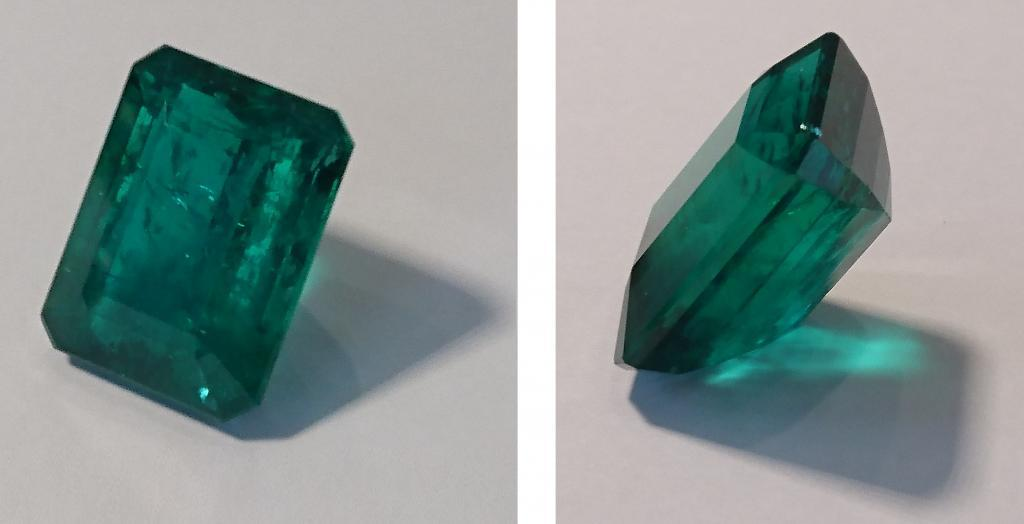 emerald front and profile, emerald cut