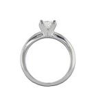 Anello con cerchio assottigliato, diamante princess - profilo - BS17