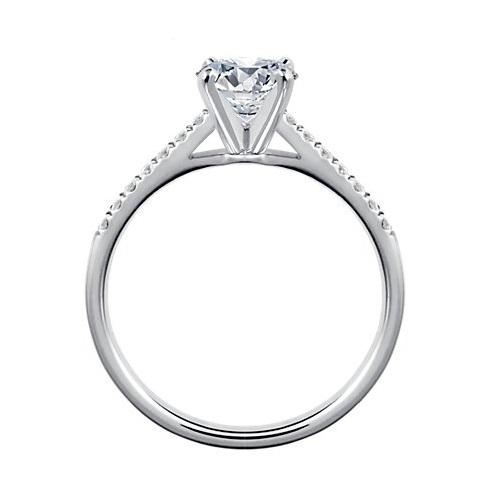 Fabuleux Bague Solitaire et diamant princesse - Bagues diamants XF28