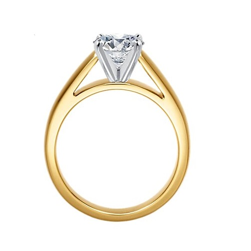 Bague solitaire diamant or jaune