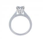 profil Solitaire diamant anneau affiné et pavé