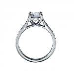 profil Solitaire avec pavage, diamants ronds