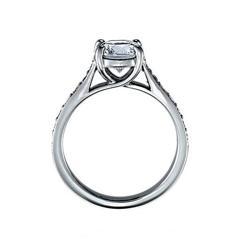 Bague Diamants Solitaire Ronds De Pavé Bagues eDWEHI92Y