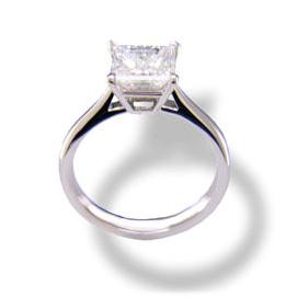 negozio del Regno Unito il più votato genuino eccezionale gamma di colori Solitario classico diamante princess – BS18