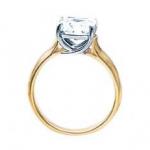 Yellow gold Princess diamond ring - profile - BS19