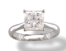 Classic princess diamond solitaire – BS18