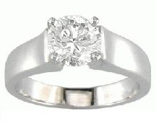 Thick band diamond ring - BS09