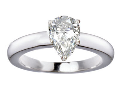 Pear diamond shape solitaire - BS10