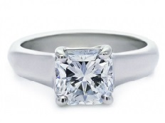 Thick band square diamond solitaire - BS20