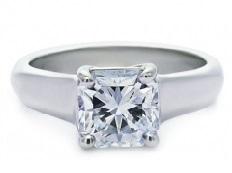 Solitaire épais diamant princesse BS20