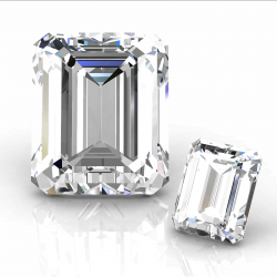 diamants taille émeraude de différentes tailles