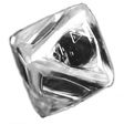 octahedral rough diamond
