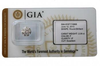 diamant mis sous scellé, certificat GIA