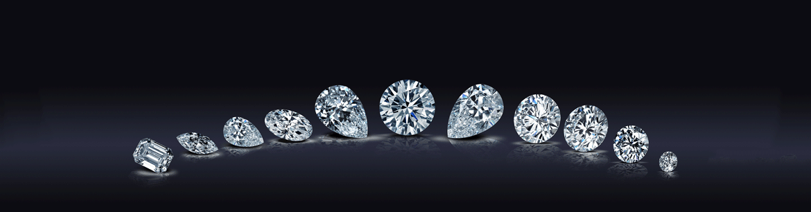 different shaped white diamonds