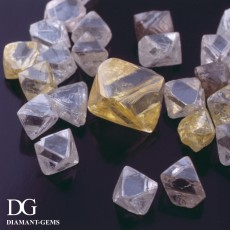 diamants bruts forme octaédrique