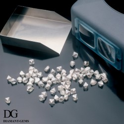 diamants bruts, forme octaèdre