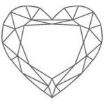 diamante di forma a cuore