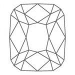 diamante di forma a cuscino