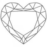 diamant forme coeur