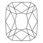 diamant forme coussin