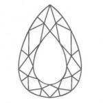 diamant forme poire