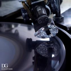 taille et polissage d'un diamant poire