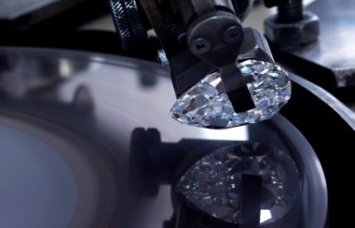 cutting and polishing of pear cut diamond