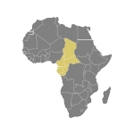 Map of Central Africa