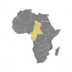 carte de l'Afrique Centrale