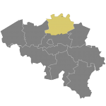 Map of Belgium (Antwerp)