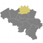 carte de la Belgique (Anvers)