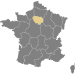 Map of France - Paris