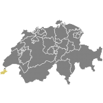 Map of Switzerland (Geneva)
