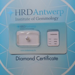 HRD certificate and sealed diamond