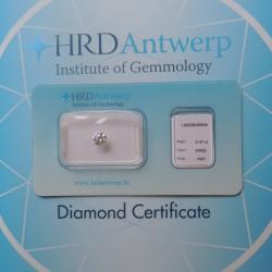 certificat HRD et diamant sous scellé