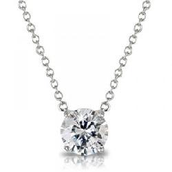 pendentif diamant taille brillant