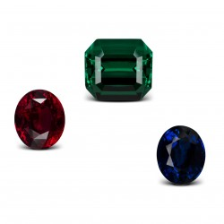 coloured gemstones : rubies sapphires emeralds
